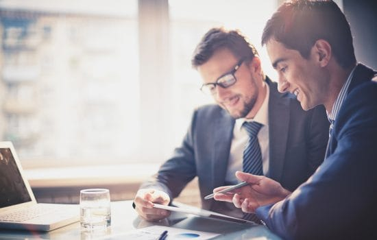 2 Business Finance Specialists in Conversation